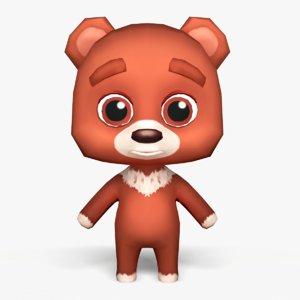 3D cute cartoon bear -