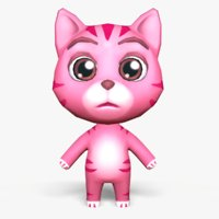 3D cute cartoon cat mobile