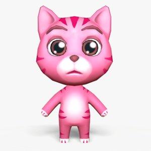 3D cute cartoon cat mobile