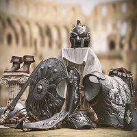3D model roman armor gladiators