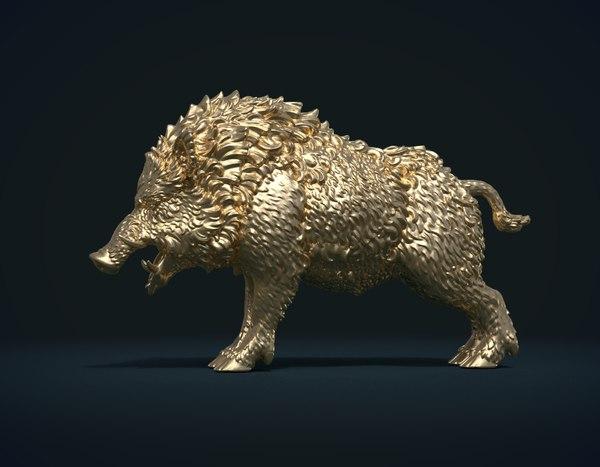 boar static 3D model