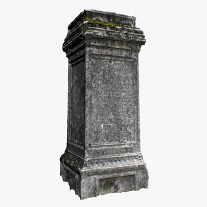 3D tombstone scanned ready model