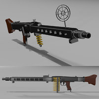 3D model mg 42 machine gun