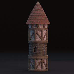 medieval tower 3D
