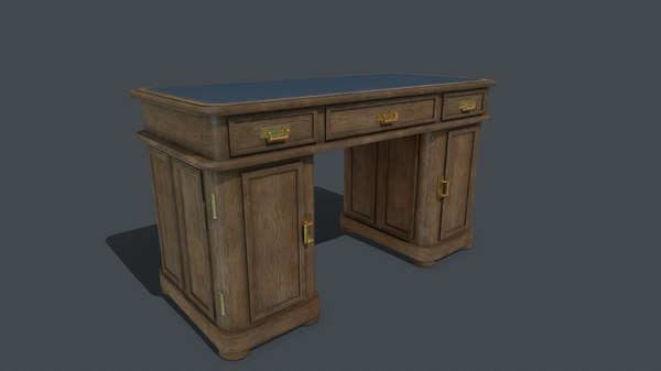 3D old writing desk model