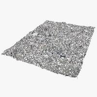 3D gravel scanned ready model
