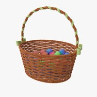 3D basket ribbon eggs