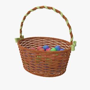 3D basket ribbon eggs
