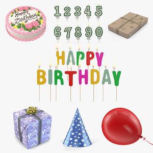 3D model happy birthday 2