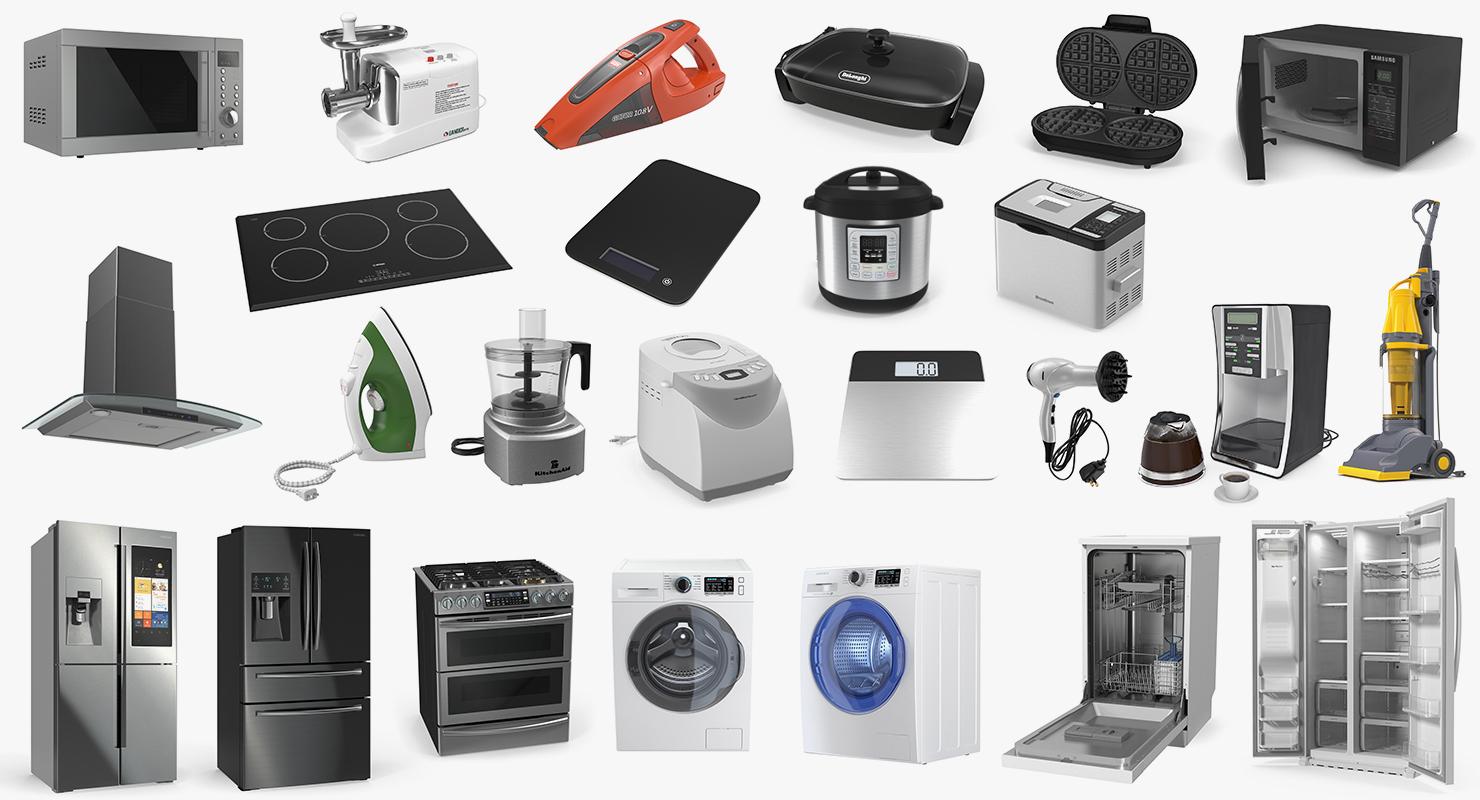home appliances 2 3D model