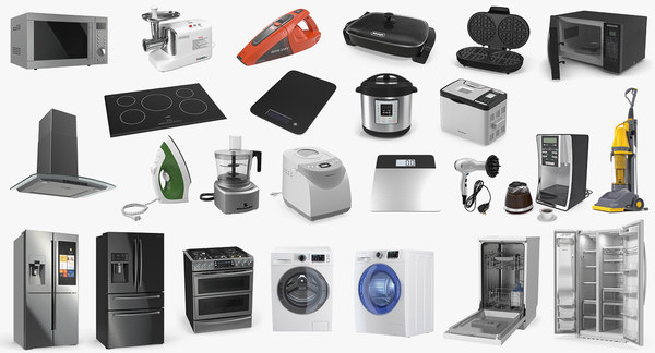 home appliances 2 3D model