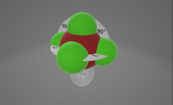 3D molecule brf5