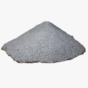 3D model gravel hill