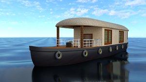 boat boathouse house 3D model