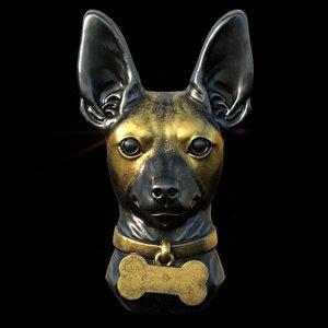 toy terrier head 3D