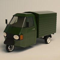 van wheeled 3D model