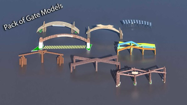 pack different gate 3D model
