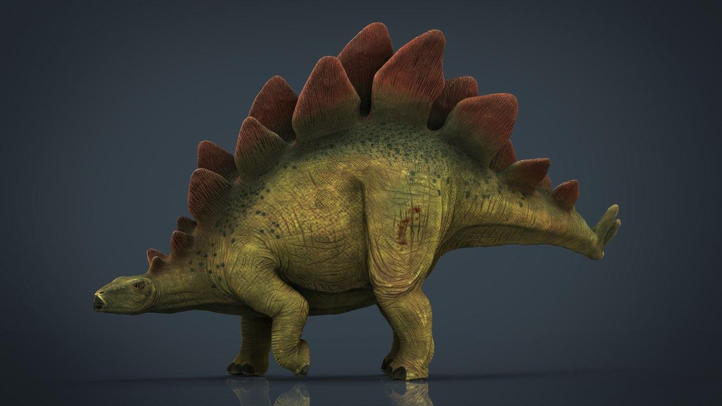 3D model stegosaurus