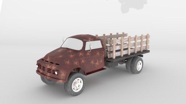 3D vintage truck