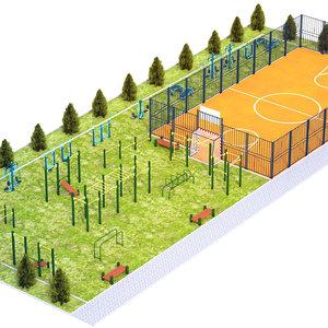 sport ground model