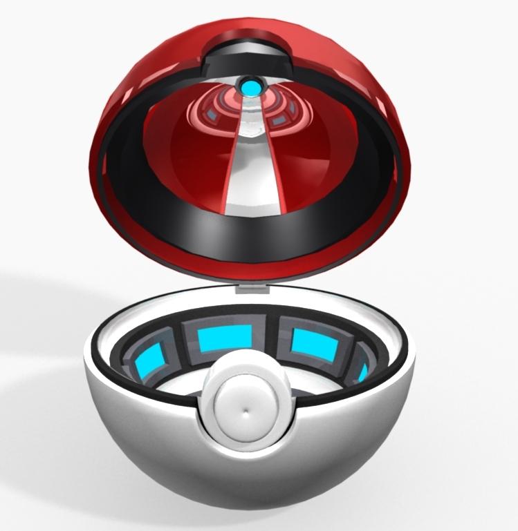pokeball poke ball 3D model