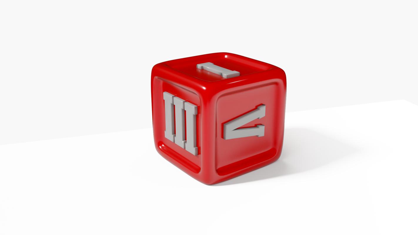 dice greek numbers 3D model