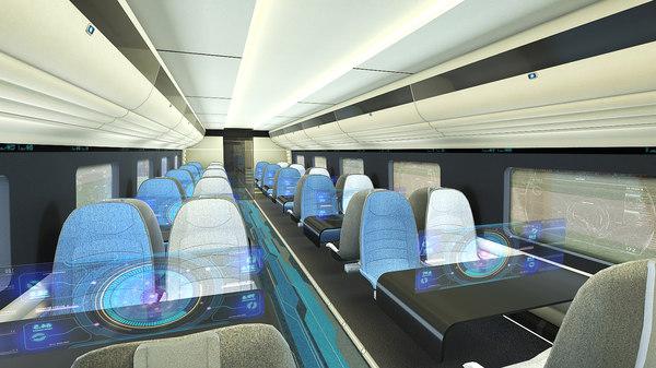 3D train interior games