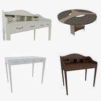 scandinavian table set 4 3D