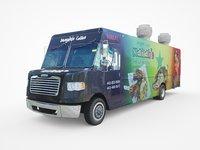 Food Truck Step Van Low-poly