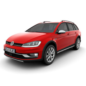 3D volkswagen golf alltrack 2015 model