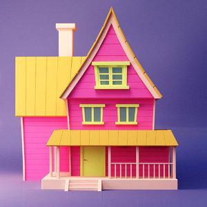 house pink 3D model