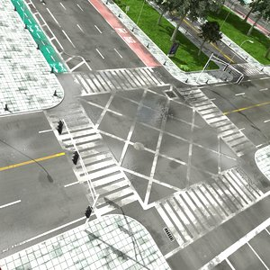 road intersection 3D model