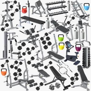 3D model exercise equipment