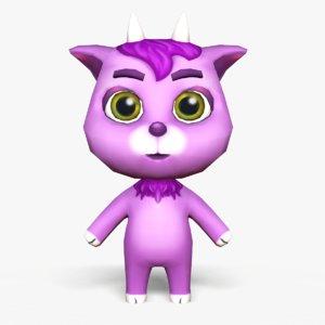 3D cute cartoon goat mobile model