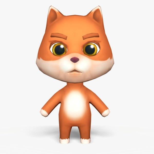 3D cute cartoon fox mobile