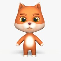 3D cute cartoon fox mobile