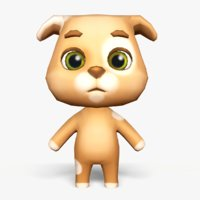 cute cartoon dog mobile 3D model