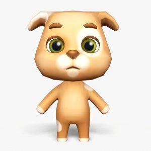 cute cartoon dog mobile 3D model