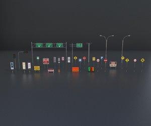 street element architectural 3D model