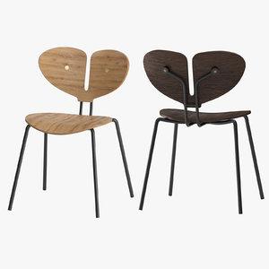 moth chair nordic tales 3D model