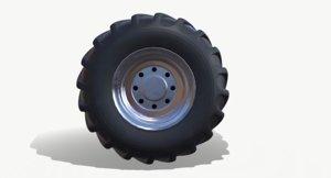 monster truck wheel 3D model
