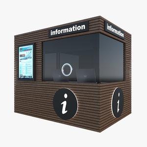 tourist nformation kiosk 3D model