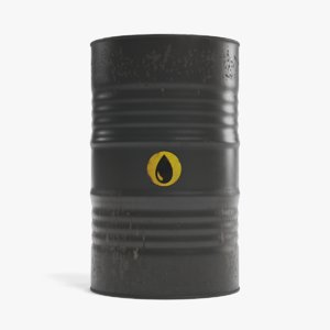 3D oil barrel contains