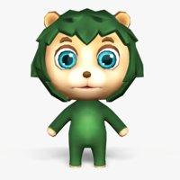 Cartoon Hedgehog - Mobile game model