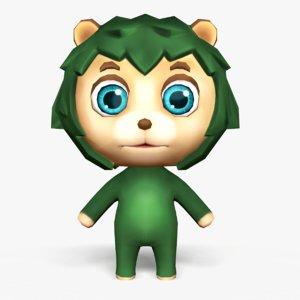 3D model cute cartoon hedgehog mobile