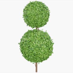 3D topiary bush