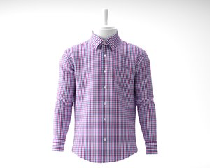 men shirt 3D model