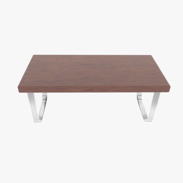 rounded steel legs coffee table model