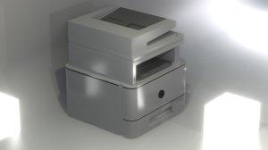 printer blender 3D