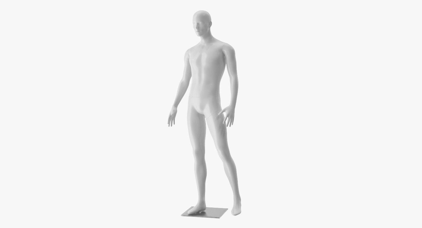 male mannequin man 3D